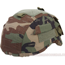 emersongear Emerson Tactical Helmet Cover ACH MICH 2001 Helmet Cover Hunting Camo Helmet Cover Headwear Serie with Hook Loop black bk color special swat force sticky hook and loops set for marsoc devgru ops fast mich ach lwh cvc pasgt gentex helmets