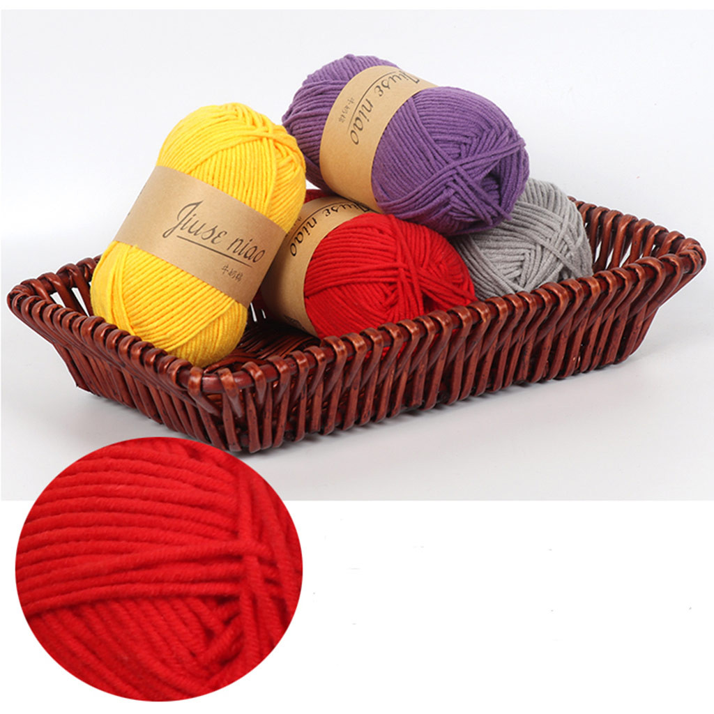 30# Soft Crochet Yarn Baby Cotton Wool 5 Strands Of Milk Cotton Diy Wool Hat Scarf Line Children's Line Hand Knitting Hand-woven Do You Want To Buy Some Chinese Native Produce?