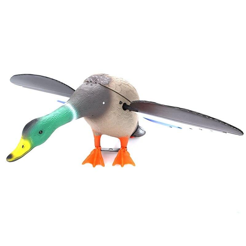 Canard de chasse de leurres de chasse motorisés en plastique de cc 6V avec des ailes de rotation - 2