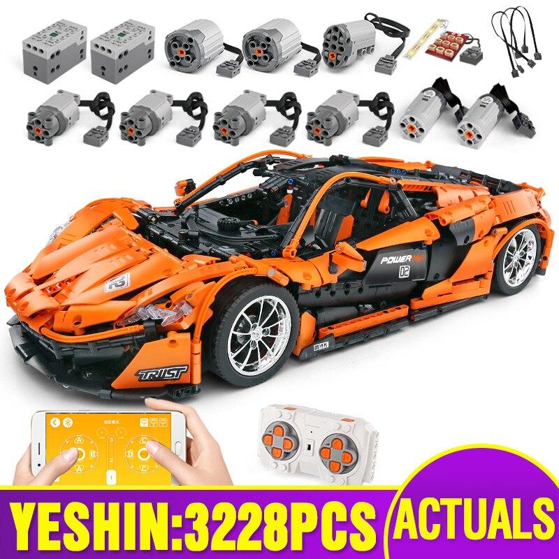 20087 RC Technic coche Compatible con Legoing MOC-16915 McLaren P1 Motor función coche bloques de construcción ladrillos juguetes navideños para niños GOROCK ensamblar bloques de construcción grandes de autobús montar ladrillos clásicos juguetes de bricolaje regalo de bebé Compatible con aviones LegoINGlys duplie