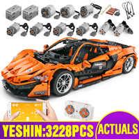 Lepining 20087 RC Technic samochód kompatybilny z MOC-16915 McLaren P1 funkcja silnika samochodowe klocki budowlane cegły dzieci zabawki świąteczne