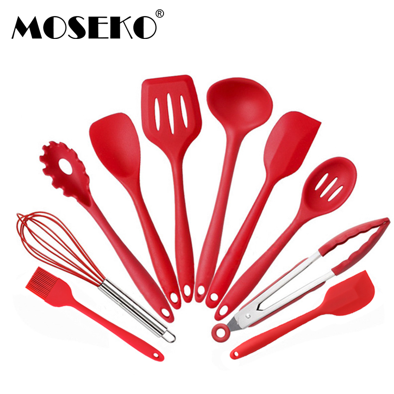 MOSEKO Silicone Spatula Heat-resistant Soup Spoon Brush Non-stick Special Cooking Shovel Kitchen Tools Kitchenware Utensil