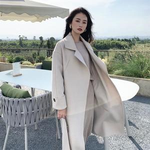 Image 3 - AYUNSUE Winter Coat Women 100% Wool Coat Female Double Side Woolen Coats and Jackets Women Korean Long Jacket Chaqueta Mujer MY