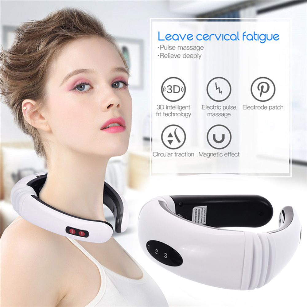 Electric Pulse Neck Massager Back Cervical Massage Neck Pad Physiotherapeutic Acupuncture Magnetic Therapy Relief Pain Tool