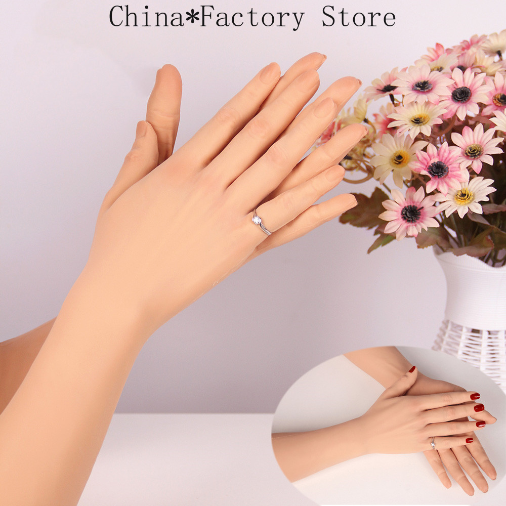 Silicone Practice Hand Gloves High Level Realistic Glove Female Artificial Skin Lifelike Women Lady Fake Hands For Crossdresser