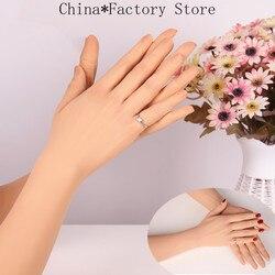 Siliconen Praktijk Hand Handschoenen Hoge Niveau Realistische Handschoen Vrouwelijke Kunstmatige Huid Levensechte Vrouwen Lady Fake Handen voor Crossdresser