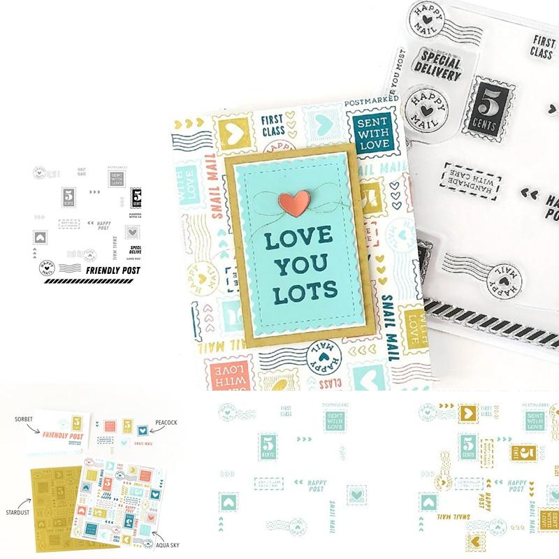 Amor você lotes cartões de cartão de saudação para diy scrapbooking álbum de fotos decorativo metal corte dados gravação diy cartões de papel