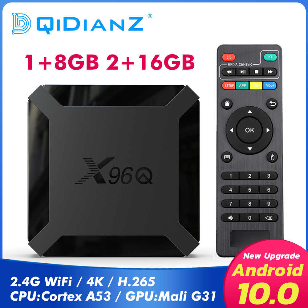 X96Q caja de TV android 10 Allwinner H313 Quad Core smart tv android tv 4K Dispositivo de tv inteligente Set Top BOX Media Player PK x96 mini t95