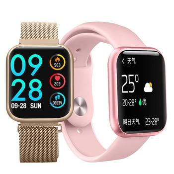 P80 Waterproof Smart Watch For Android Sport Sleep Heart Rate Tracker pkP70 Women Men Full Touch Screen Smartwatch