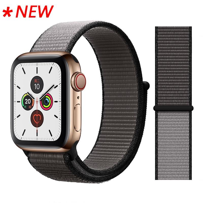 Для наручных часов Apple Watch, версии 3/2/1 38 мм 42 мм нейлон мягкий дышащий нейлон для наручных часов iWatch, сменный ремешок спортивный бесшовный series4/5 40 мм 44 мм - Цвет ремешка: 49 Anchor Gray
