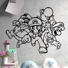 Милые наклейки на стену в стиле супер Марио Мультяшные аксессуары