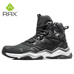 Rax Mens Waterproof Hiking Boots Mountain Boots Men Outdoor Sneakers Tactical Shose Sports Shoes Genuine Leather Hiking Shoes