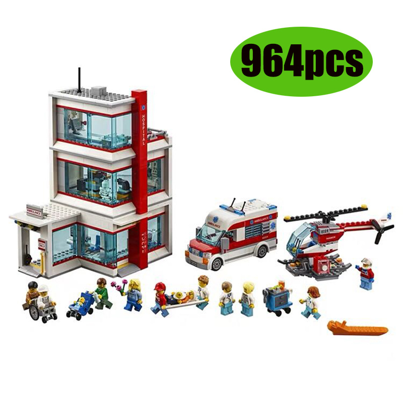 2020 NEW Building Blocks 964pcs Compatible With City 60204 Bricks Lepining City Hospital Figures Educational Toys For Children