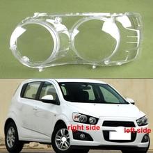 Transparante Lampenkap Lampenkap Koplamp Shell Koplamp Cover Glas Voor Chevrolet Aveo 2011 2012 2013