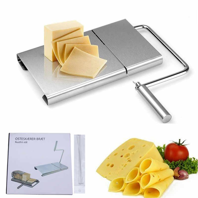 XYj チーズスライサーステンレス鋼線バターカッターツールボードハード半ハードチーズバターソーセージ、 5 ワイヤ付属