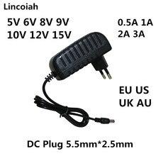 프랑스 스페인 5V 6V 8V 9V 10V 12V 15V 0.5A 1A 2A 3A AU 미국 영국 EU AC/DC 전원 어댑터 모니터 규정 충전기 어댑터 공급