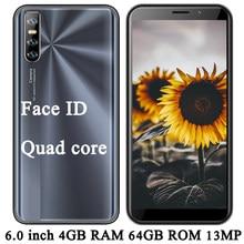 Android 9C Face ID odblokowany telefon komórkowy wersja globalna smartfony oryginalny 6.0 calowy 13MP czterordzeniowy 4GRAM 64GROM Celulars telefon