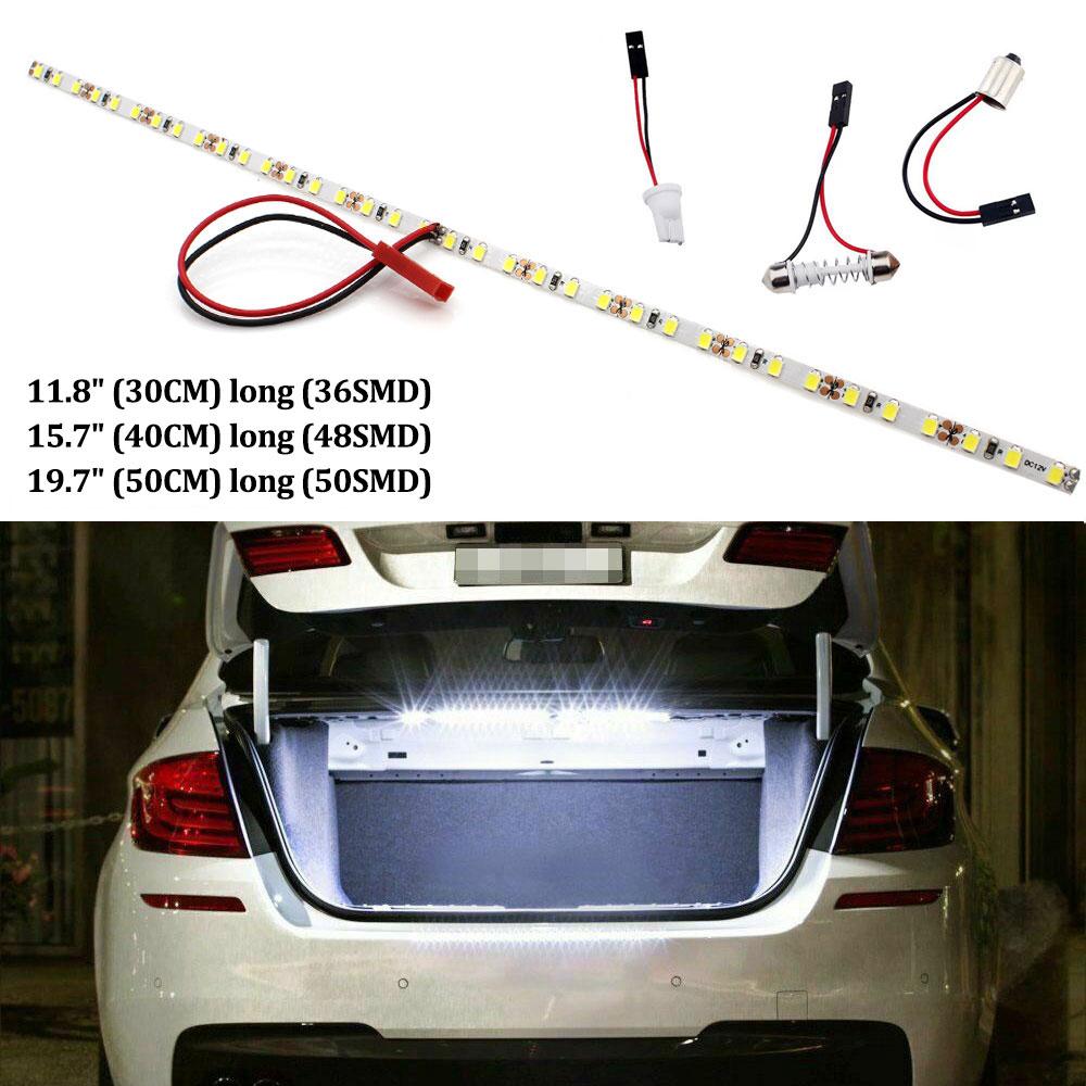 Super Bright HID White T10 LED Strip Light W5W LED For Car Trunk Cargo Area Or Interior Illumination White 3000K 4000K 6000K DIY