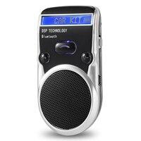 Solar Power Lcd Car Bluetooth Handsfree Kit Hands Free Adapter Aux Receiver Handsfree Speakerphone For Mobile Phone Cigarette Li