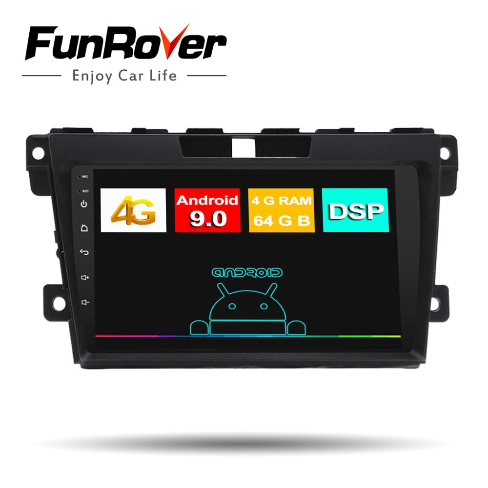 Funrover 2.5D+DSP Android 9.0 For <font><b>Mazda</b></font> CX7 <font><b>CX</b></font>-<font><b>7</b></font> <font><b>CX</b></font> <font><b>7</b></font> ER 2009-2012 Car Radio Multimedia Video Player Navigation GPS <font><b>2din</b></font> No dvd image
