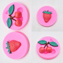 Strawberry Cherry Fruit Silicone Mold 3D For Chocolate Fondant Cake Decorating Candy