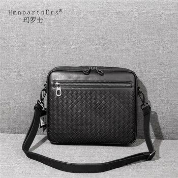 цена на Hmn Partn Ers Unisex Genuine Leather Cowhide Shoulder Bag Fashion Men High Quality Adjustment Designer Handbag Crossbody