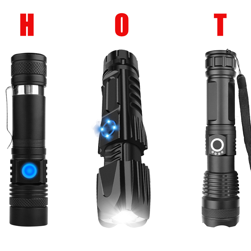 Most Powerful XHP90.2 LED Tactical Flashlight Waterproof Zoom Torch  Practical T6/XHP50 Led Flashlight Use 18650 Battery