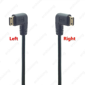 Image 3 - 0.5M 90 Degree Angle Mini HDMI To HDMI Male M/M Cable Connector V1.4 For DSLR Video Camera LCD Monitor