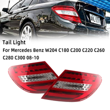 MZORANGE luz trasera para Mercedes Benz W204 C180 C200 C220 C260 C280 C300 2008 2010 cambiante de viejo estilo trasero DRL