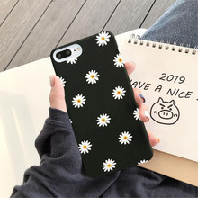 GYKZ Fashion Flowers Daisy Phone Case For iPhone Huawei P20 P30 Pro Mate 20 Lite Honor 10 Black Silicone Soft Matte Back Cover