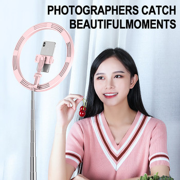 New Dimmable Portable Selfie Flash LED Ring Light with Stand for Makeup Mobile Phone Camera Selfie Phone Long Arm Holders