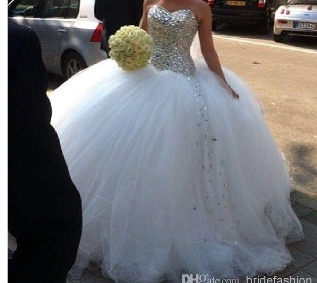 Free Shipping Ball Gown 2016 New Hot Sexy Sweetheart Casamento Luxury Crysstal Vestido De Noiva Curto Wedding Dress Bridal Gown