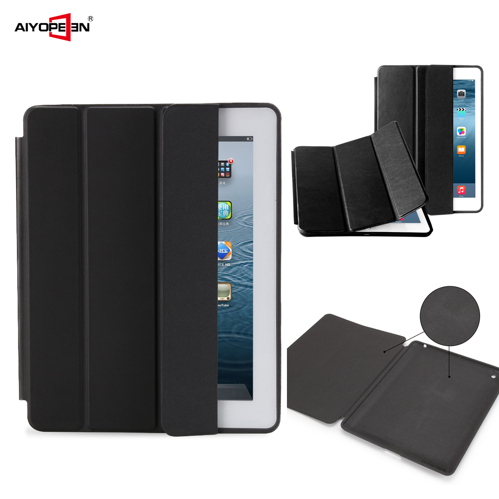 PU leather cover case for ipad 9.7 air 1 2 2017 2018 5th 6th Generation, Aiyopeen Magnetic Flip smart cover for IPAD 4 3 2 case