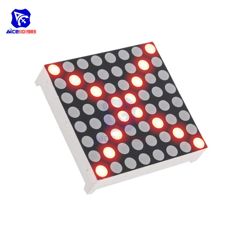 Diymore 8x8 Red LED Matrix 3mm Dia. Common Anode LED Board Module For Arduino