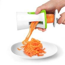 Handheld Spiralizer Peeler Spiral Slicer Portable Vegetable Cutter Slicer Stainless Steel for Spaghetti Kitchen Accessories