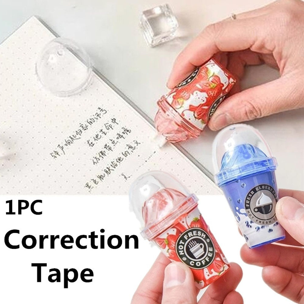 1 Piece Cute Correction Tape Kawaii Cartoom Candy Milk Tea Cup Ice Cream Correction Tape Stationery Office School Supplies