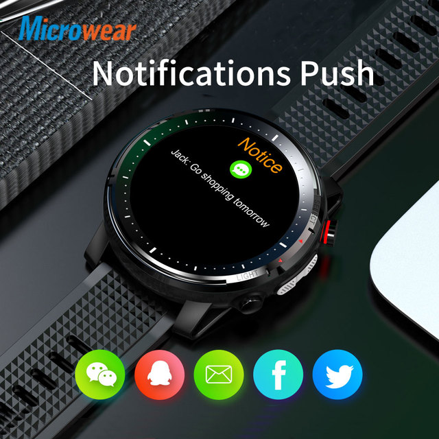 2020 New Microwear L15 Smart Watch Men IP68 Waterproof smartWatch ECG PPG Blood Pressure Heart Rate sport fitness Smartwatch 5