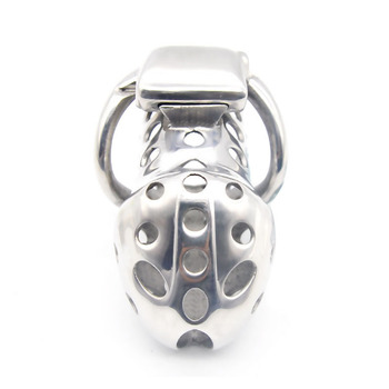 Stainless Steel Electro Shock Chastity Cage Lock 40/45/50mm Cock Rings Male Penis Bdsm Chastity Device Cock Cage SexToys for Men