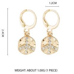 Дикие и свободные серьги-кольца в форме звезды для женщин, золотые медали, крест, маленькие глаза, крошечные обручи Huggie, серьги, стразы, минималистичное ювелирное изделие - Окраска металла: Style 1