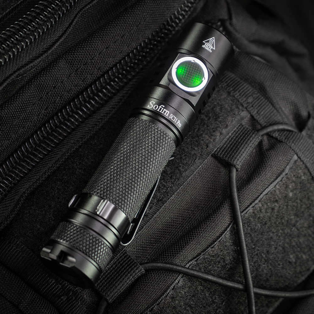 New Arrival Sofirn SC31 Pro Powerful Rechargeable LED Flashlight 18650 Torch USB C SST40 2000LM Anduril