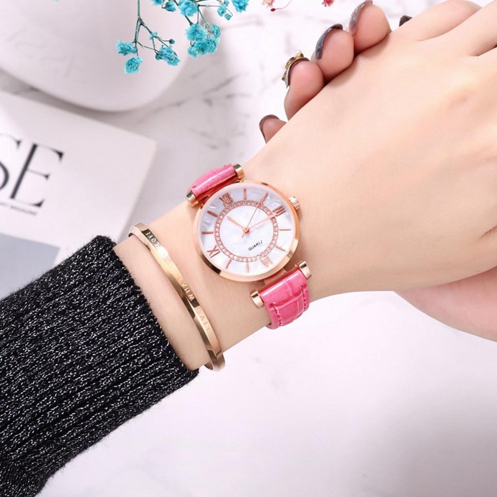 2019 модные часы в римском стиле с рисунком ракушек, модные деловые маленькие свежие женские часы, подарок на день рождения