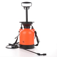 3L Hand Pressure Sprayer Bottle Adjustable Copper Nozzle Head Manual Air Compression Pump Spray Bottle with Spray Lance