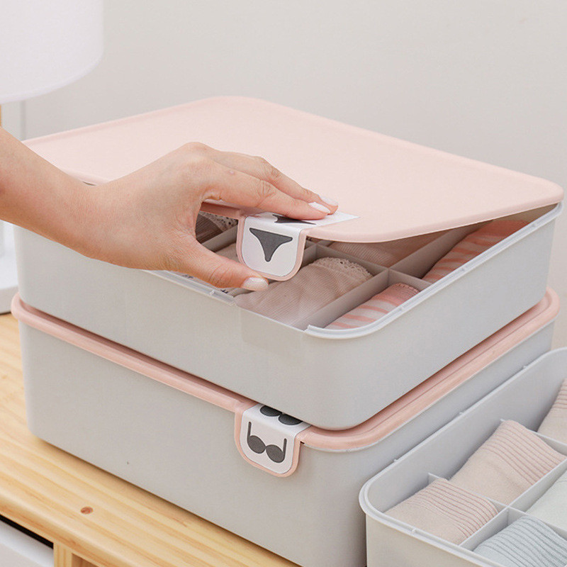 Plastic Underwear Bra-Organizer Storage-Box Socks Mark Household Compartment with  title=