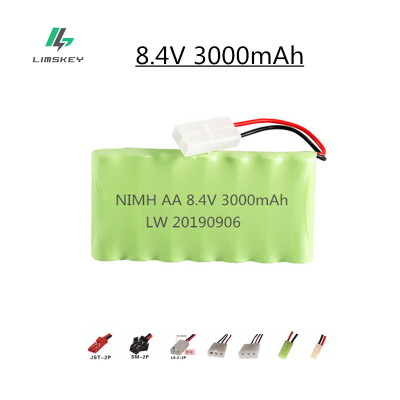 8.4v 3000mah NiMH Battery For Rc toy Car Tanks Trains Robot Boat Gun Ni-MH AA 2400mah 8.4v Rechargeable Battery 1Pcs image