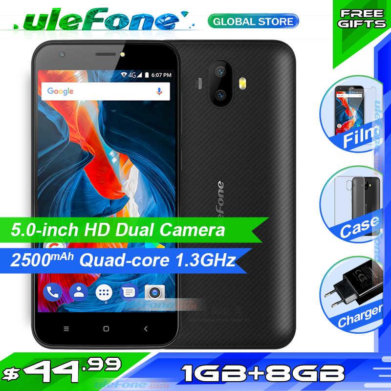 Ulefone S7 5.0 بوصة HD 3 جرام WCDMA الهاتف الذكي المزدوج كاميرا خلفية MTK6580 رباعية النواة ثلاث فتحات 8 جيجابايت ROM أندرويد 7.0 الهاتف المحمول