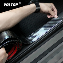 3/5/7/10cm X 2,5 m pegatinas de coche 5D fibra de carbono caucho estilo alféizar de la puerta de protección productos para KIA Toyota BMW Audi Mazda Ford Hyundai