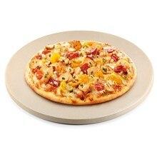 12 Polegada cerâmica pizza pedra de cozimento de pizza pedra/pan, perfeito para grill e forno-resistente térmico, durável e seguro