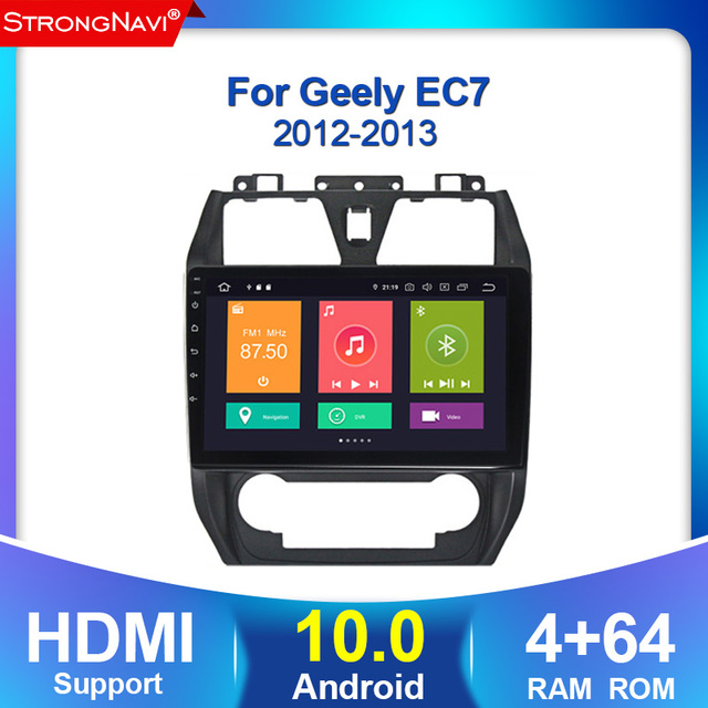 4+64G Android 10.0 2.5D IPS Screen car dvd For GEELY Emgrand EC7 radio 2012 2013 multimedia GPS Radio stereo gps navigation