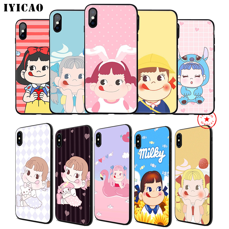 IYICAO Peko Milky Soft Phone Case for iPhone 11 Pro XR X XS Max 6 6S 7 8 Plus 5 5S SE Silicone TPU 7 Plus in Fitted Cases from Cellphones Telecommunications