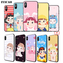 IYICAO Peko Milky Soft Phone Case for iPhone 11 Pro XR X XS Max 6 6S 7 8 Plus 5 5S SE Silicone TPU 7 Plus iyicao snow mountain soft phone case for iphone 11 pro xr x xs max 6 6s 7 8 plus 5 5s se silicone tpu 7 plus